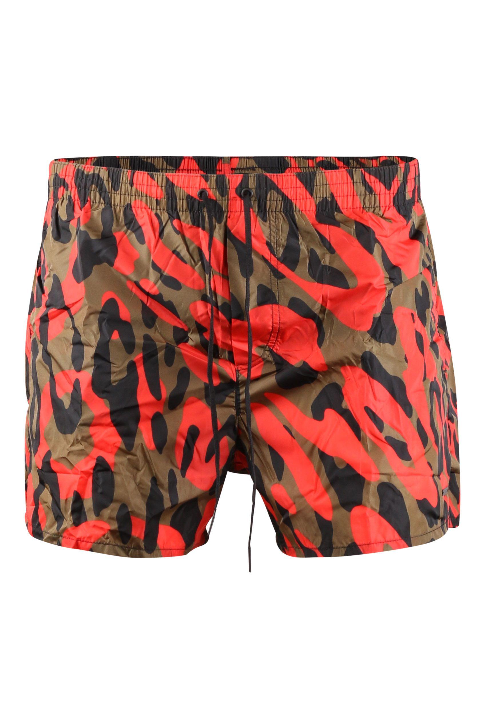 Zwembroek Short Heren.Dsquared2 D7b641400 Zwembroek Oranje Camouflage Winkelen In